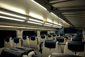 Rail interior lighting